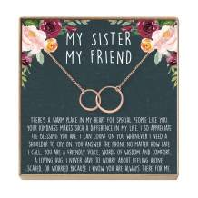 Sister Necklace - Heartfelt Card & Jewelry Gift for Birthday, Holiday & More