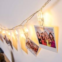 Photo Clips String Lights,Reabeam,Twinkle Light,Wedding Anniversary Party,Home,Bar, Coffee Shop,Christmas Halloween Decor Lights,Battery Powered for Hanging Pictures,Notes,Memos,Artwork