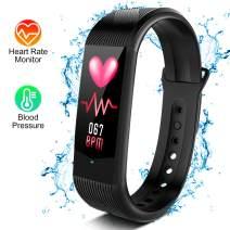BOZLUN Heart Rate Monitor - Fitness Tracker w/Blood Pressure & Sleep Monitor, IP67 Waterproof Activity Tracker w/Calories Counter, Step Counter, Pedometer for Women, Men, Kids, Longer Battery Life