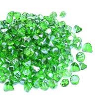 Mr. Fireglass 1/2-Inch Reflective Fire Glass Diamonds for Fireplace, Fire Pit, Lanscaping, 10 lb, Emerald Green