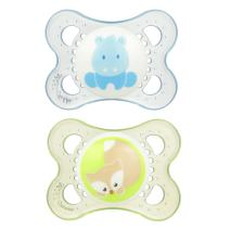 MAM Animal Collection Pacifiers (2 pack, 1 Sterilizing Pacifier Case), MAM Pacifier 0-6 Months, Baby Boy Pacifier Animals Design, Best Pacifier for Breastfed Babies