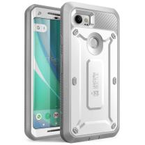 SUPCASE Unicorn Beetle PRO Series Phone Case for Google Pixel 2 XL, Full-Body Rugged Holster Case with Built-in Screen Protector for Google Pixel 2 XL 2017 Release (White)