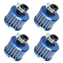 ESUPPORT 12mm Mini Blue Universal Car Motor Cone Cold Clean Air Intake Filter Turbo Vent Breather Pack of 4