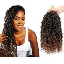 6 Packs Goddess New Locs Crochet Hair ,14 Inch Boho Hippie Locs ,With More Small curls, Faux Bohemia Locs(14inch,T1B/30)