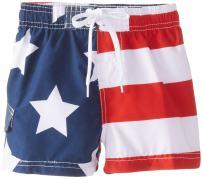Kanu Surf Baby Boys' American Flag Swim Trunk