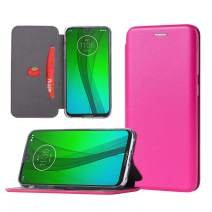 Revvlry Plus Wallet Case,Moto G7 Plus Phone Case,PU Leather Magnetic Flip Stand Case Cover [Built-in Card Slots] for Motorola Moto G7/G7 Plus-Pink