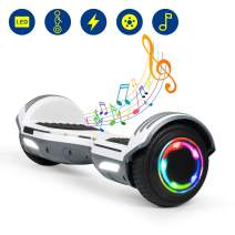 """YHR Hoverboard 6.5"""" Two-Wheel Self Balancing Hover Board with Bluetooth Speaker and LED Lights Hoverboard for Kids and Adults"""