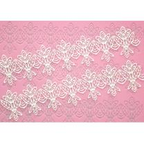 FOUR-C Silicone Lace Molds for Cake Decorating, Cake Decoration Adorable Fondant Cake Decorating Tools Lace Decoration Mat Rose Print Pattern Molds Sugar Craft Tools