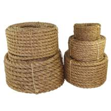 """SGT KNOTS Twisted Manila Rope - Natural 3 Strand Fiber for Indoor and Outdoor Use (1.5"""" x 200ft)"""