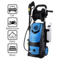 Suyncll Electric Pressure Washer High Power Washer with Reel,3800PSI 2.8GPM Pressure Washer Car Patio Garden Yard Cleaner (Blue)