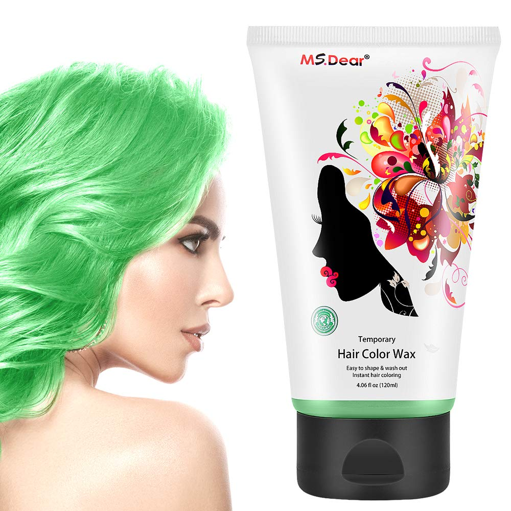 Instant Hair Wax 120g Temporary Hair Color Dye Wax Men Women Hair Pomades Hair Styling Mud Fluffy Matte Best Salon Hair Clay For Party Festival Cosplay Halloween Green
