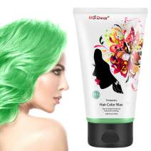 Instant Hair Wax 120g, Temporary Hair Color Dye Wax, Men Women Hair Pomades, Hair Styling Mud Fluffy Matte Best Salon Hair Clay for Party, Festival, Cosplay & Halloween - Green