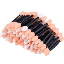 eBoot Disposable Dual Sided Eyeshadow Brush Sponge Tipped Oval Makeup Applicator, 100 Pieces (Black)
