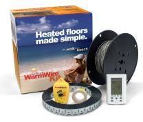 SunTouch WarmWire Electric Floor Heating Kit, 70 Sq. Ft, (120V) with Command Touch Programmable Thermostat