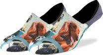 Good Luck Sock Men's Dashing Dogs No Show Invisible Socks - Adult Shoe Size 7-12