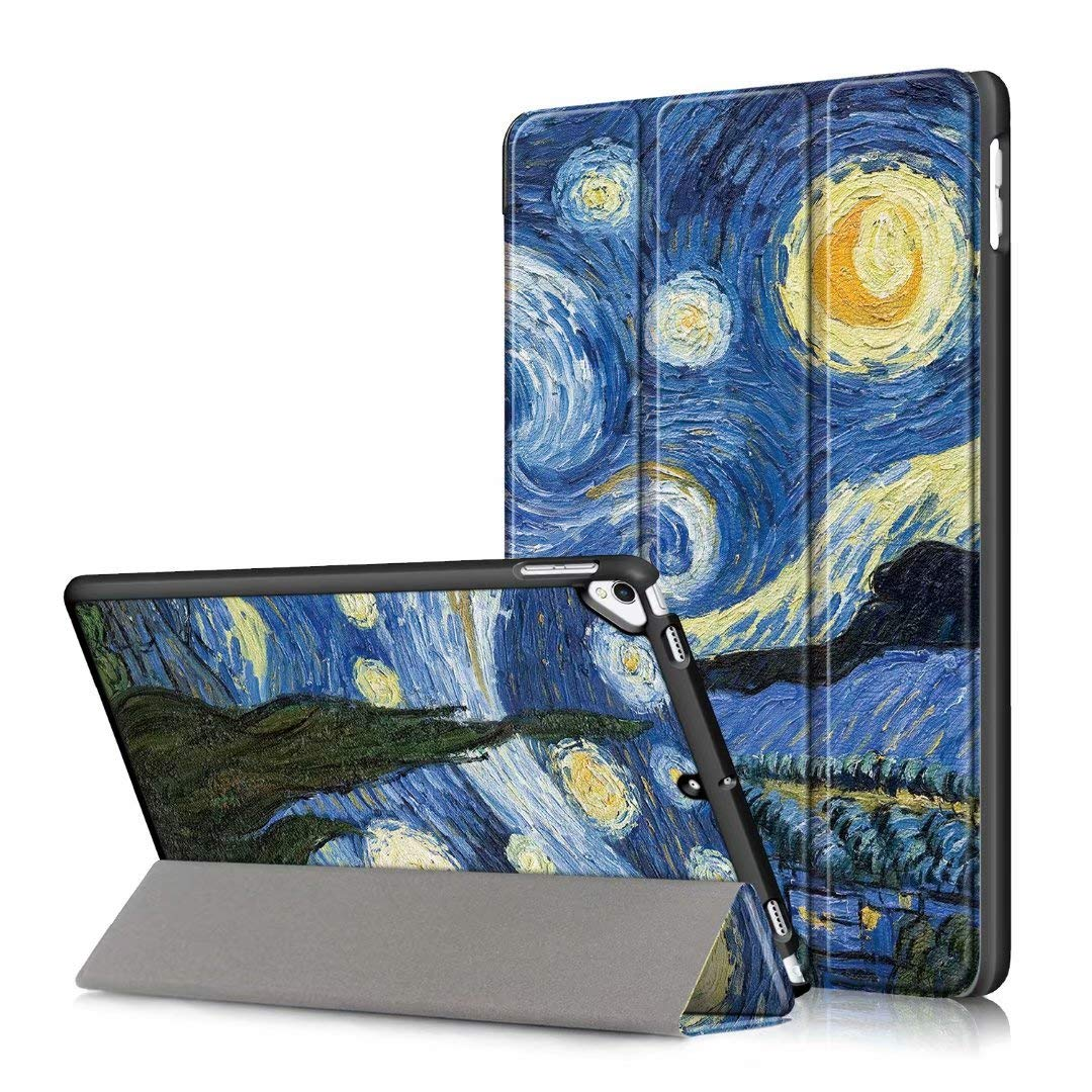 Neepanda Case for iPad 7th Generation 10.2 inch 2019, Ultra Slim Smart Tri-Fold Shell Shockproof Cover for Apple iPad 7th Generation 10.2 inch 2019 Released (Auto Wake/Sleep), Starry Sky