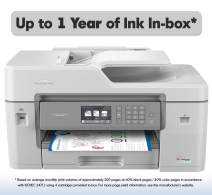 Brother MFC-J6545DW INKvestmentTank Color Inkjet All-in-One Duplex Printer - Wireless and Ethernet Connectivity, includes upto 1-Year of Ink-in-Box