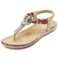 ZOEREA Ladies Sandals Peep Toe T-Strap Bohemia Women Sandals