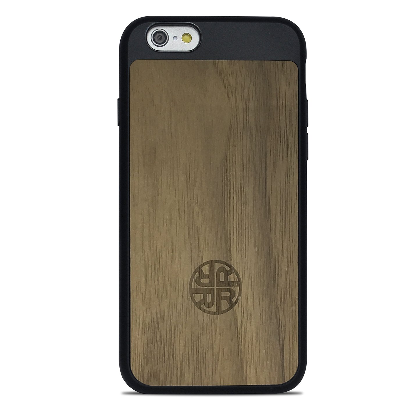 Reveal Extra Protective Wood Case Compatible with iPhone 7/8 - Wooden Cover with Silicon Shell for Extra Protection & Durability - Eco-Friendly Design Shop (Walnut/Black)