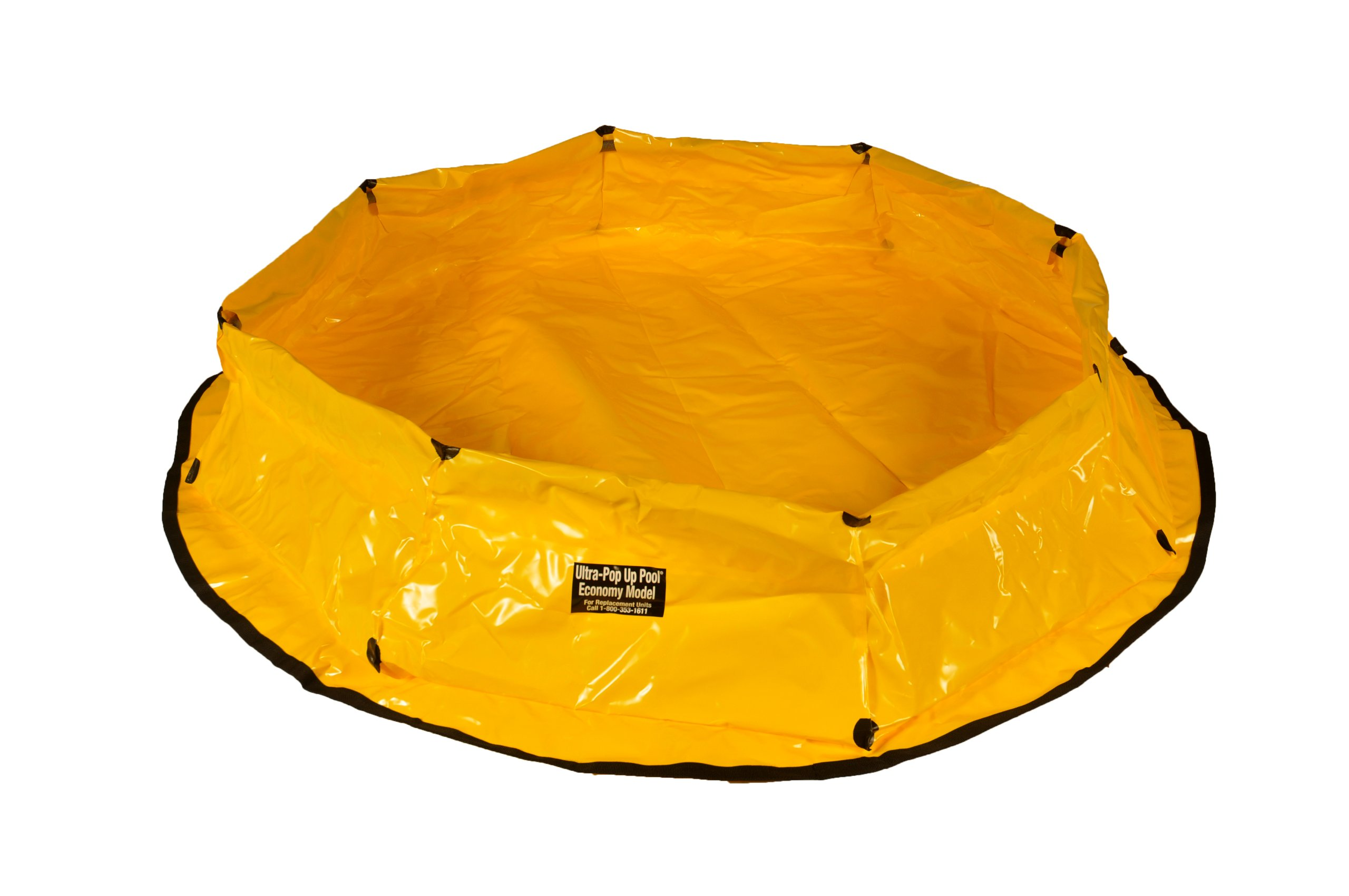 "UltraTech 8153 Economy Polyethylene Ultra-Pop Up Pool, 150 Gallon Capacity, 12"" Height, Yellow"