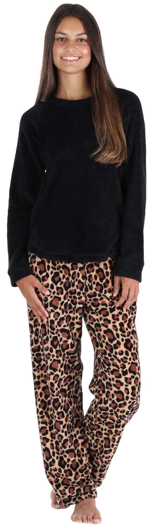 PajamaMania Women's Fleece Long Sleeve Pajamas PJ Set