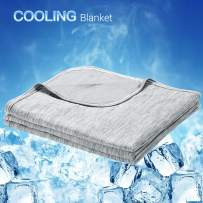 LUXEAR Cooling Blanket, Revolutionary Cool-to-Touch Technology Q-MAX>0.4 Summer blanket, 59 X 79 in Double Side Design Cool Blanket, Breathable Comfortable Bed Blanket for Adults, Children, Baby- Gray