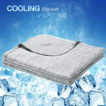 LUXEAR Cooling Blanket, Revolutionary Cool-to-Touch Technology Q-MAX>0.4 Summer blanket, 78 X 86 in Double Side Design Cool Blanket, Breathable Comfortable Bed Blanket for Adults, Children, Baby- Gray