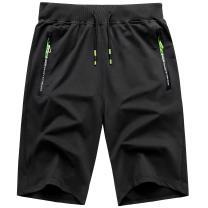 GEEK LIGHTING Mens Shorts Casual Comfortable Workout Shorts Drawstring Zipper Pockets Elastic Waist