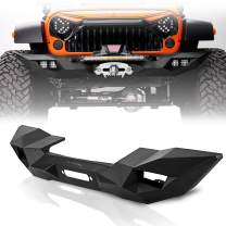 Topfire Blade II Front Bumper for Jeep Wrangler JK&JKU 2007-2018 with Winch Mounting Tray, Black