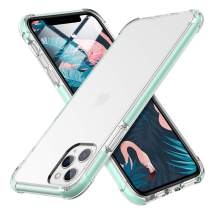 MILPROX iPhone 11 Pro Case, Crystal Clear Thin Slim Shell Anti-Yellow Anti-Slippery Shockproof Protective Bumper Cover Case for iPhone 11 Pro 5.8 Inch (2019)-Green Mint