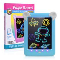 Fricon Drawing Pad for Kids, Magic Pad for Boys Light Up Drawing Pad LCD Writing Tablet for Kids Educational Toys for 3-10 Year Old Boys Gifts for Boys Age 3-10 Doodle Pad Draw with Light Blue