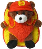 Kreative Kids Adorable Fire Chief Bear Plush Backpack with Removable Stuffed Animal