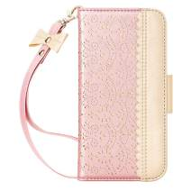 "WWW iPhone 11 Pro Max 6.5"" Case,iPhone 11 Pro Max Wallet Case, [Luxurious Romantic Carved Flower] Leather Wallet Case [Inside Makeup Mirror] [Kickstand Feature] for iPhone 11 Pro Max 2019 Rose Gold"