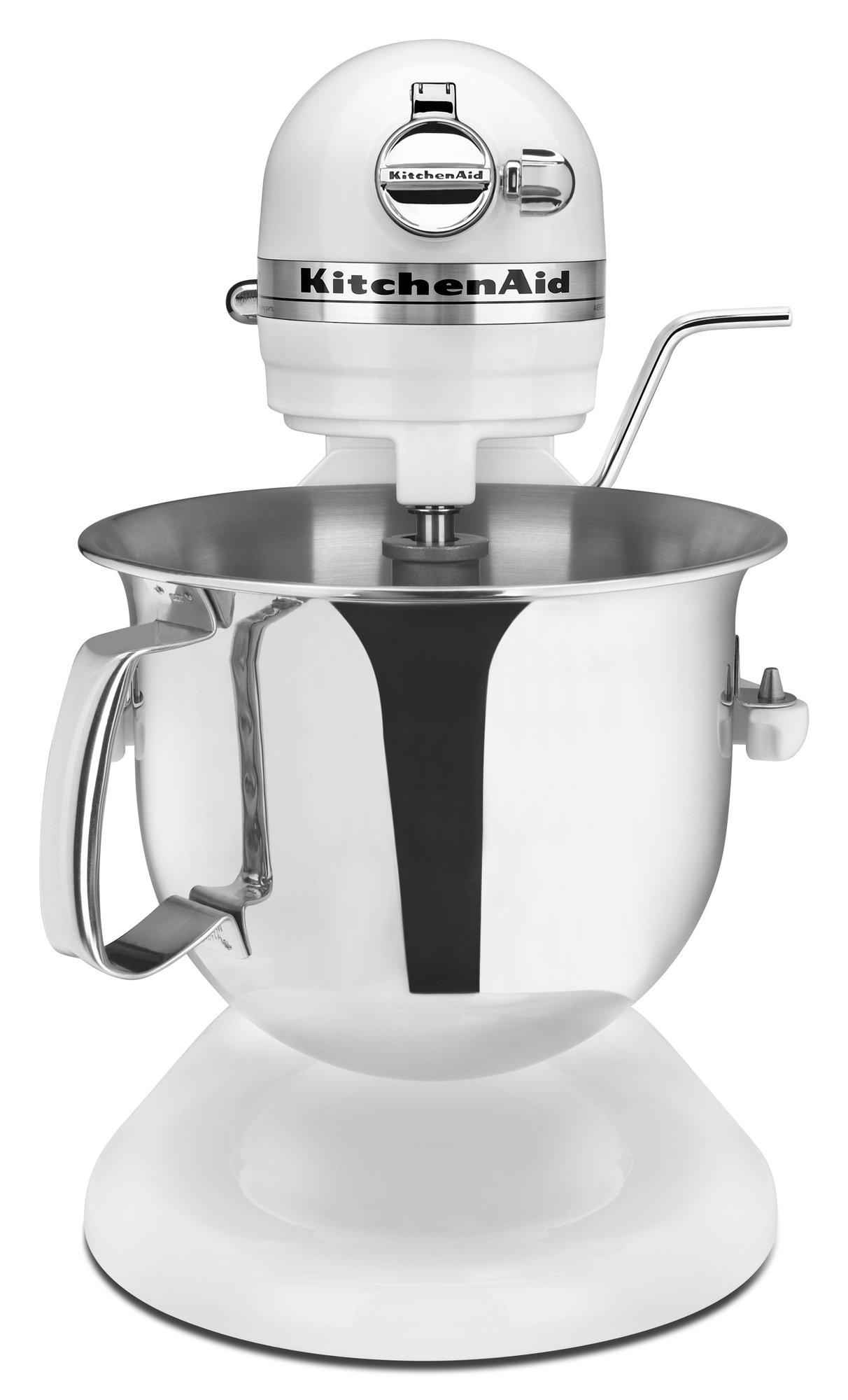 KitchenAid Professional 6000 HD KSM6573CWH Stand Mixer, 6 Quart, White
