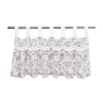 Brandream Baby Girl Blush Pink Window Valance Cute Butterfly Floral Curtain Valance with Sweet Tassel Design for Baby/Toddler/Kids Bedroom Bath Laundry Living Room Nursery Decor, Ideal