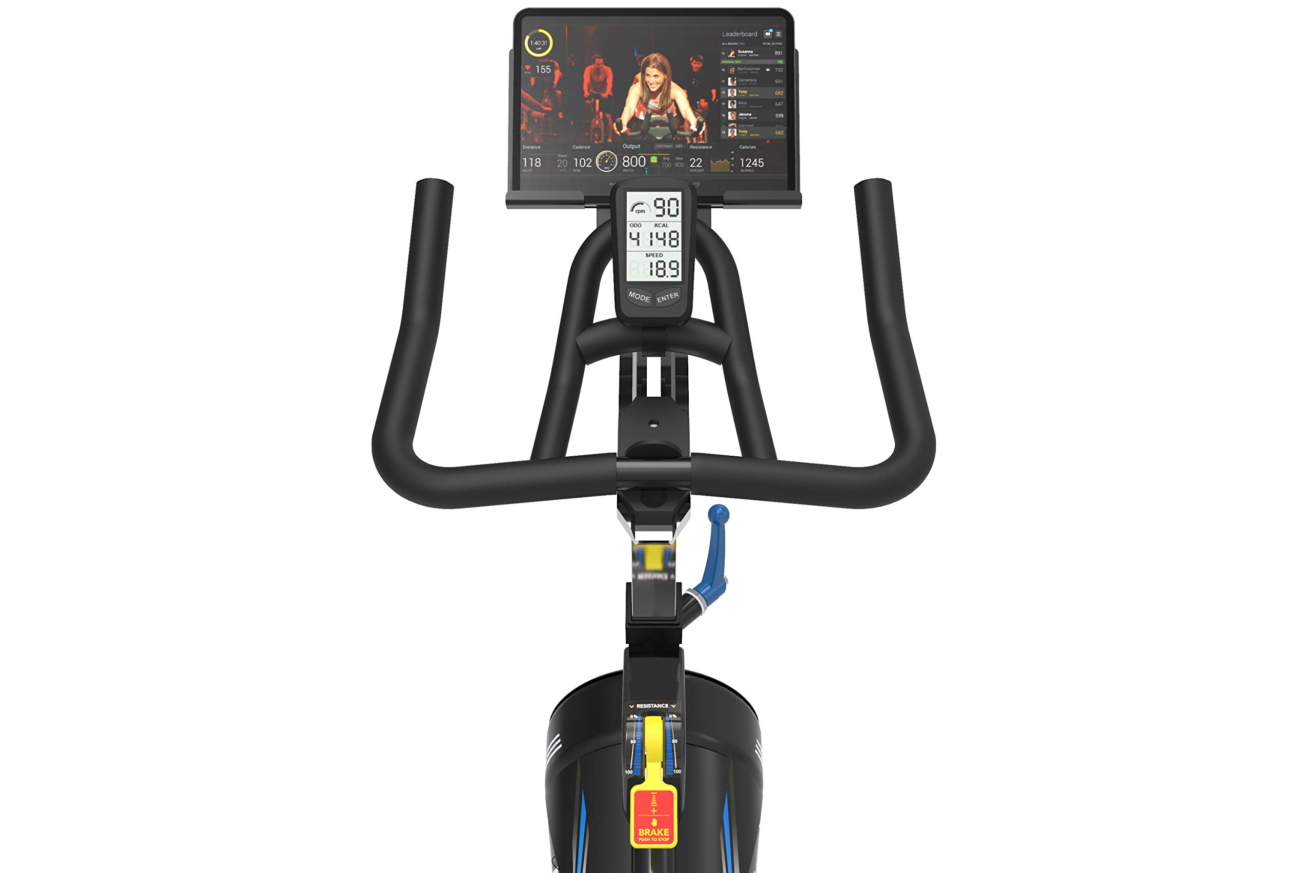 Horizon Fitness IC7.9 Content Ready Indoor Cycle, Repeatable Resistance, Cadence Display, Tablet Holder from, Black