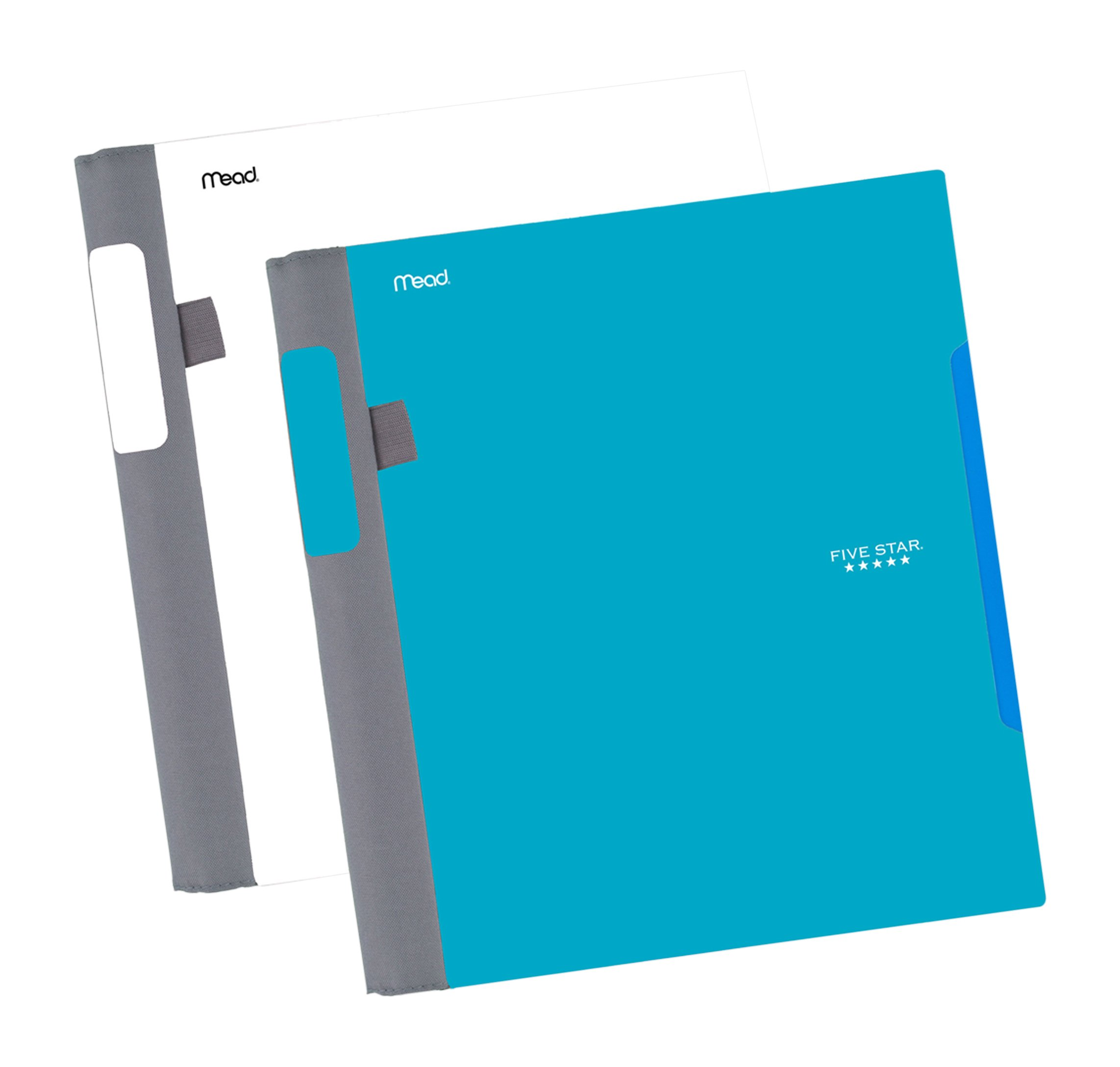 """Five Star Advance Spiral Notebooks, 1 Subject, College Ruled Paper, 100 Sheets, 11"""" x 8-1/2"""", Teal, White, 2 Pack (73172)"""
