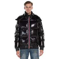 Extreme Pop Mens Pure Down Jacket Shiny Hoody UK Brand