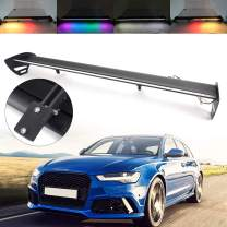 Areyourshop Universal Hatch Adjustable Aluminum Rear Trunk Wing Racing Spoiler With LED