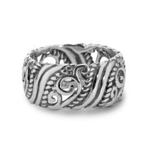 Carolyn Pollack Sterling Silver Open Scroll Work Band Ring Size 5 to 10