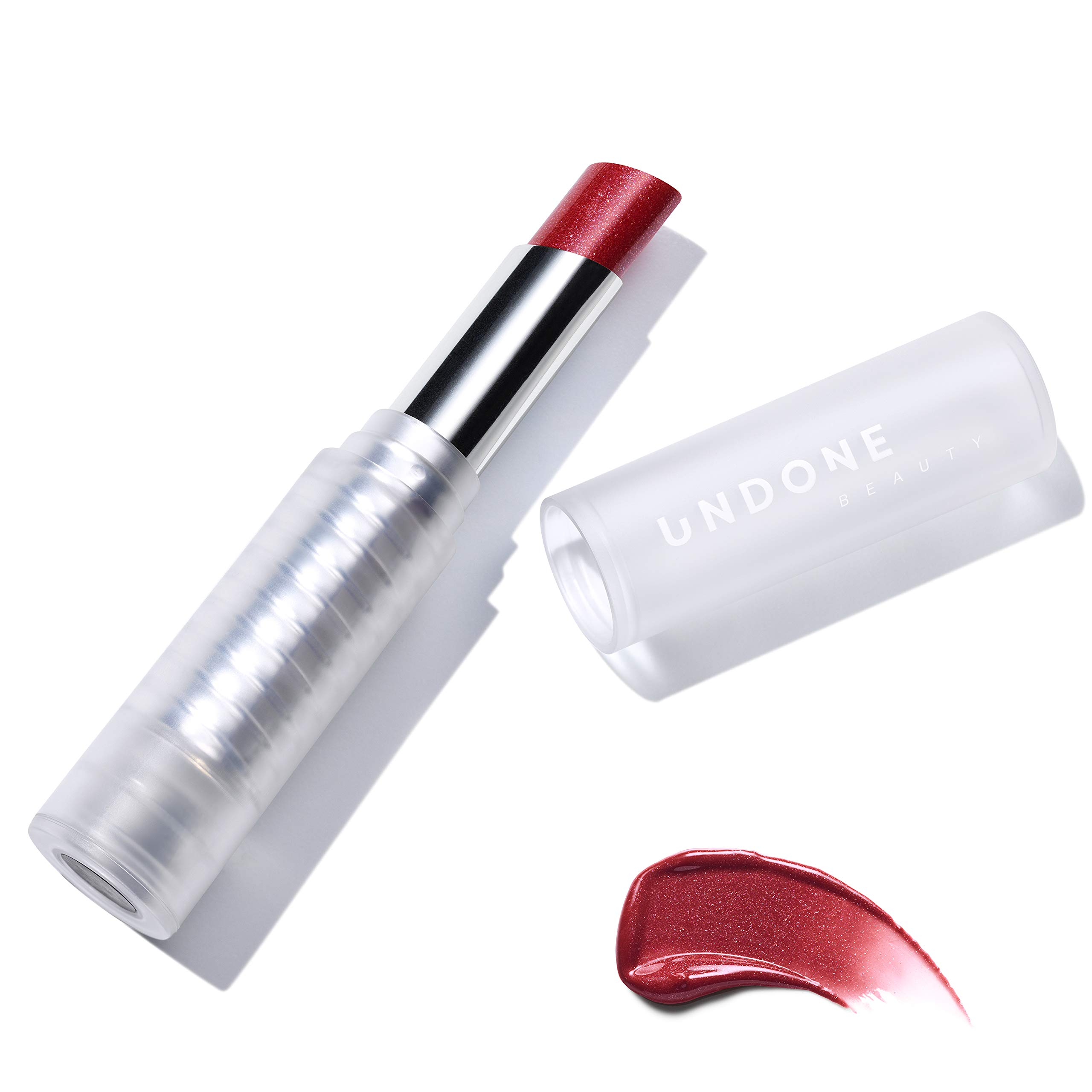 Light Reflecting, Lip Amplifying Lipstick. Sheer, Buildable, Hydrating Color - UNDONE BEAUTY Light On Lip. Aloe, Coconut & Volume Enhancing Pigment. Paraben, Vegan & Cruelty Free. ROYAL RED