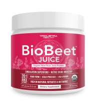 Beet Juice Powder | 20x More Potent Than Beet Powder, Best Value – Organic, Cold-Pressed, Raw Form, USA Grown | Natural Nitric Oxide Booster, Pre-Workout, Increase Circulation (50 Servings)
