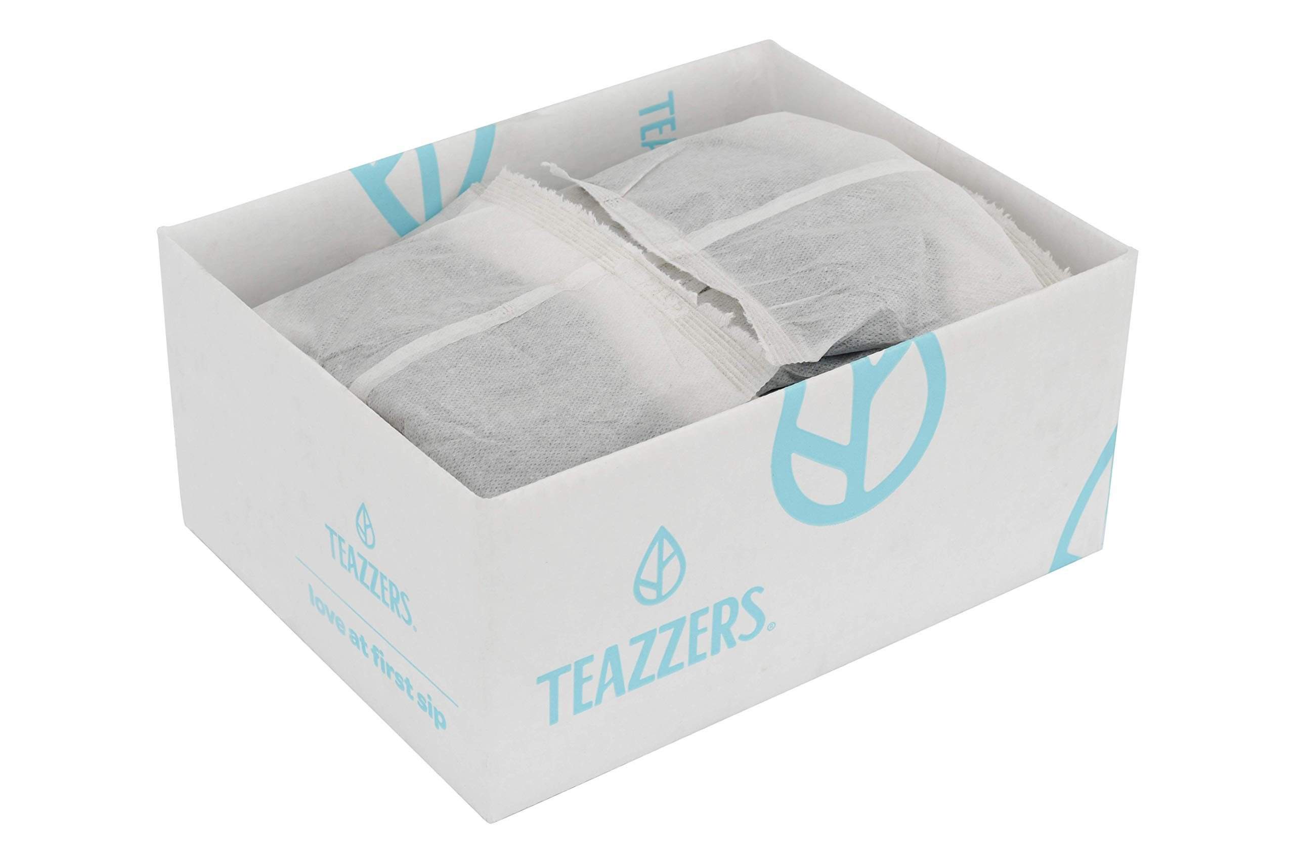 Teazzers Premium Black Raspberry Tea Bags, Large 2-Gallon Iced Tea Brew, Commercial Size Tea Filters, Bulk 48 Pack, 2oz. Great for Foodservice Ice Tea Brewers, Unsweetened