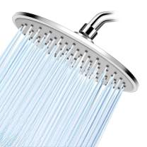 WarmSpray Rain Shower Head High Pressure with 9 Inch Thin Chrome Large Coverage Rainfall Spray Shower Relaxation and Adjustable Brass Swivel Ball Joint with Filter