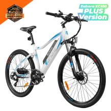 Eahora 26inch Mountain Electric Bike 350W Urban Electric Bikes for Adults with Removable 48V Lithium-ion Battery, E-PAS Recharge System, Shimano 7-Speed Gear Shifts, XC100