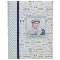 Everly Hart Collection Baby Boy's First Year Milestone Memory Book Journal Photo Albums, Blue