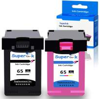 SuperInk 2 Pack High Yield Remanufactured Ink Cartridge Compatible for HP N9K04AN N9K03AN 65 65XL 65 XL (1 Black, 1 Tri-Color) use in Deskjet 3720 3752 3721 3755 3722 Envy 5052 5055 5058 Printer