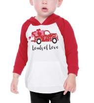 Bump Beyond Designs Toddler Kids Loads of Love Vintage Truck Unisex Valentine's Day Shirt