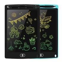 GRINETH 2 Pack 8.5 Inch LCD Writing Tablet Colorful Doodle Board Erasable Electronic Writing & Drawing Pad for Kids & Adult (Blue/Black)