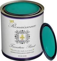 Retique It Chalk Finish Paint by Renaissance - Non Toxic, Eco-Friendly Chalk Furniture & Cabinet Paint - 16 oz (Pint), Malachite